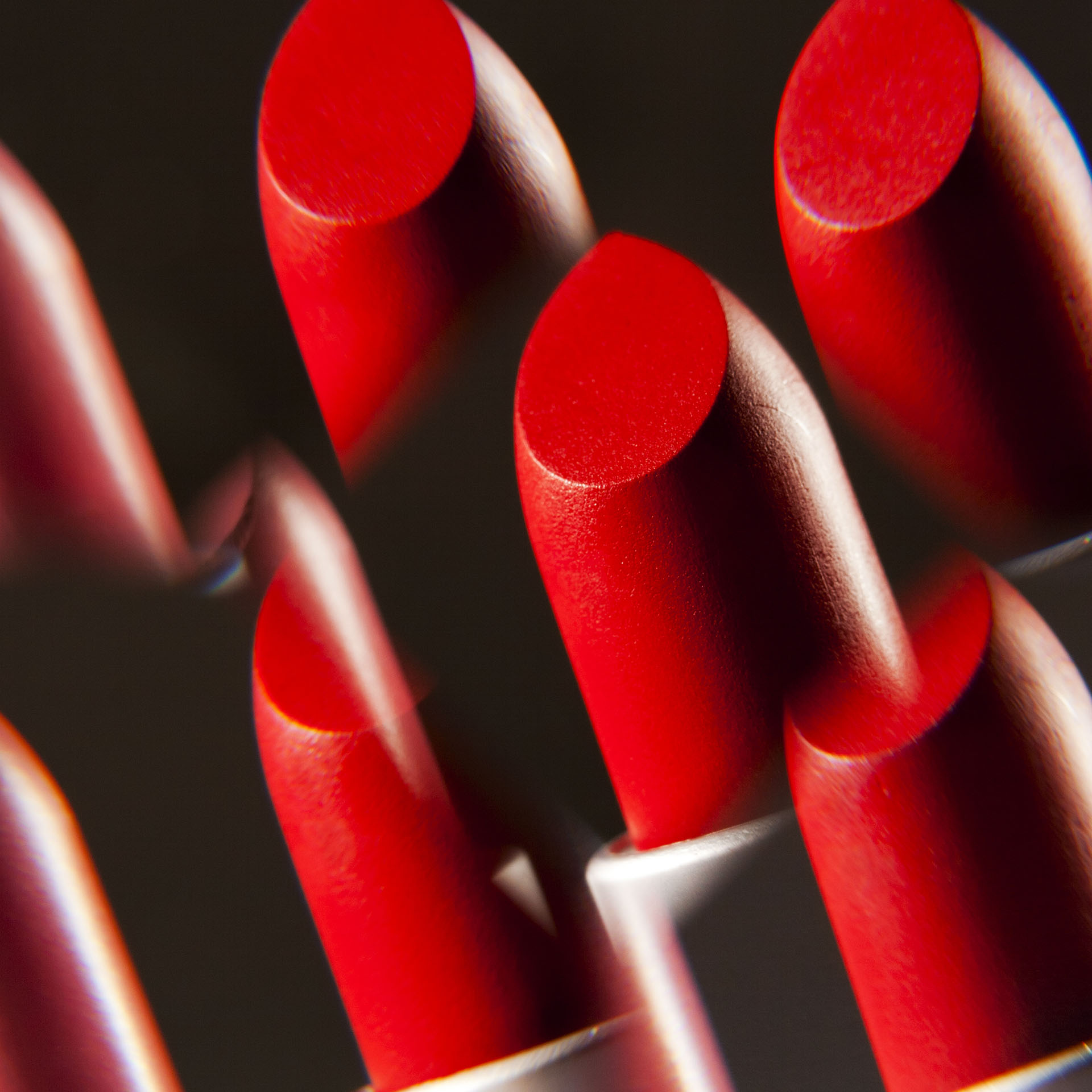 beauty, bright red lipsticks